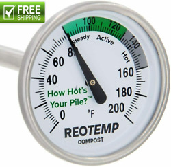 REOTEMP Backyard Compost Thermometer 20quot; Stem with PDF Composting Guide 0 20 $26.85