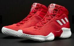 Asidas MEN#x27;S Pro Bounce 2018 Basketball Shoes Red AH2663 Size 16 New $100 $87.00