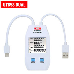UNI T USB Meter Charger Power Capacity Tester LCD Volt Amp Meter Detector K6S5 $16.06