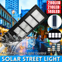 100000LM Solar LED Street Lights Commercial Outdoor IP67 Area Security Road Lamp