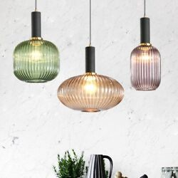 Retro Nordic Colored Glass Chandelier Creative Lamps Hanging Lamps Lights $126.03
