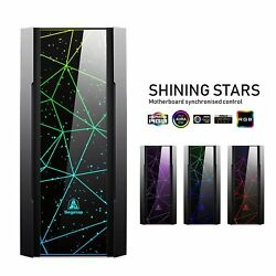 Segotep Phoenix ATX Mid Tower Gaming Case GPU Vertical Mounting w Tempered Glass $99.99