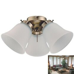 Westinghouse Replacement 3 Light Kit LED Cluster Ceiling Fan Antique Brass