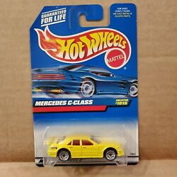1998 Hot Wheels Mercedes C Class #1015 Yellow With Red Interior wsp Wheels 1:64 $7.50