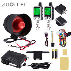 2Way Paging Car Alarm Security System Unit w 2Pc LCD Remote Start Keyless Entry $62.00