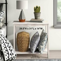 Small Console Table Narrow Accent Solid Natural Wood Entryway Hall Side Display $94.22