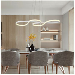 Contemporary Pendant Ambient Linear Fixture LED Curved Ceiling Light for Kitchen $89.00