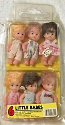 6 Little Babes Beatoy Inc. Fully Jointed Rooted Hair Colorful Dresses 1985 NRFP $34.99