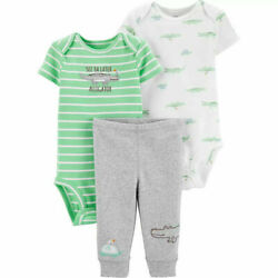 Carter#x27;s Baby Boys 3 Pc Bodysuits and Pants Set Choose Size $16.30