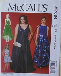 McCalls 7684 Womens Plus Dresses Sewing Pattern Sz 18W 24W $3.99