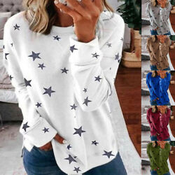 Womens Autumn Long Sleeve Floral T Shirt Causal Plus Size O Neck Tops Blouse US $13.19