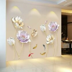3D Flower Self Adhesive Wallpaper Wall Sticker Aesthetic Wall Decorations Poster $16.94
