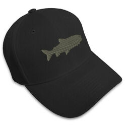 Dad Hats for Men Lake Trout Embroidery Women Baseball Caps Acrylic Strap Closure $15.99
