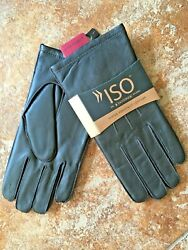 BROWN ISO ISOTONER LEATHER GLOVES MENS LARGE ULTRA PLUSH LINING NEW WITH TAGS $18.00