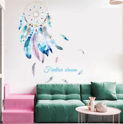 Dreamcatcher Wall Stickers For Bedroom Girls Living Room Removable Wall Poster $15.90