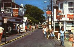 1983 ProvincetownMA Commercial Street Barnstable County Massachusetts Postcard