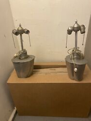 Rustic lamp set $48.00