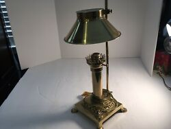 Brass Lamp With Brass Shade $34.95