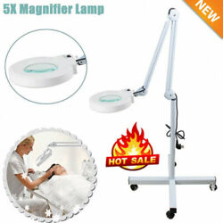 5x Magnifying Floor Light Lamp w Rolling Stand For Spa Equipment $67.02