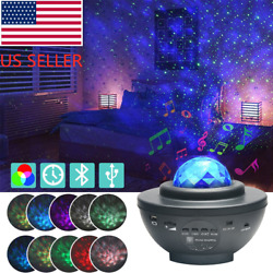 USB Bluetooth LED Starry Light Sky Galaxy Projector Ocean Wave Star Night Lamp $28.99