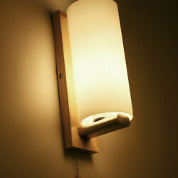 Wooden wall lamps modern minimalist LED wall lamp living room kitchen lighting $34.00