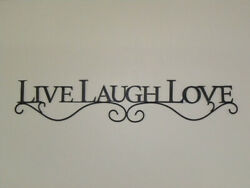 New Black LIVE LAUGH LOVE Scrolled Metal Wall Hanging Sign 26quot; $12.95