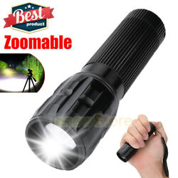 1000000Lumens Ultra Brightest Tactical LED Flashlight Zoomable Police Torch US $7.29