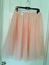 Beautiful Peach Tulle Skirt Plus Size 1x Brand New with Tags Fast Shipping $24.99
