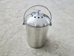 UTOPIA STAINLESS STEEL KITCHEN COMPOST CAN WITH CHARCOAL FILTER $13.25