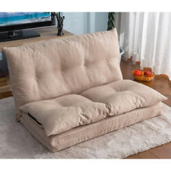Folding Sleeper Chaise Lounge Convertible Sofa Bed Floor Couch Lazy Sofa Beige $195.99