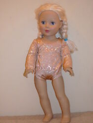 Shiny Gold Swirl Dance Gymnastic Leotard for 18quot; Doll Clothes American Girl $5.00