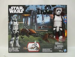 2016 HASBRO 12quot; STAR WARS DISNEY SPEEDER BIKE W BIKER SCOUT RETURN OF JEDI MISB $34.95