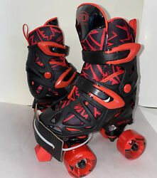 Roller Derby Trac Star Youth Boy#x27;s Adjustable Roller Skate Black Red Size 12 2 $45.00