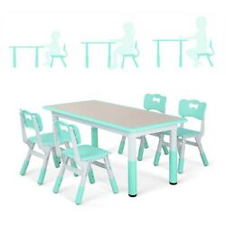Kids Desk and Chairs Set Height Adjustable Childen Study Play Table Studry Desk $119.90