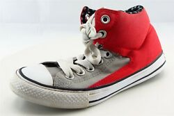 Converse all Star Boys Shoes Size 2 M Red Fabric high top $22.49