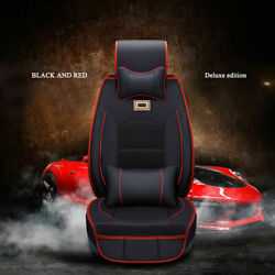 Fly5D Universal PU Leather Car Seat Cover Protect Sit Cushion Interior Parts Set $109.90