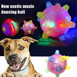 1x Pet Toys Jumping Activation Ball LED Flash Music Dance Dogs Funny Toy Durable $15.03