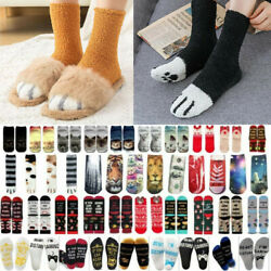 Women Men * Novelty Stockings Socks Winter Thick Funny Slogan ▪ Gifts $7.59