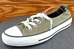 Converse All Star Women Sz 8.5 M Gray Lace Up Low Top Fabric Shoe $17.99