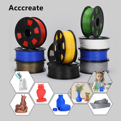 Acccreate 1Kg 1.75mm PLA Filament For Creality Ender 3 Pro CR 10S 3D Printer $19.50