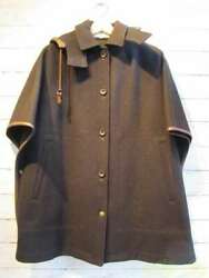 MACKINTOSH PHILOSOPHY Outer Jacket Wool Poncho S Black Small Dirt B1549 $120.00
