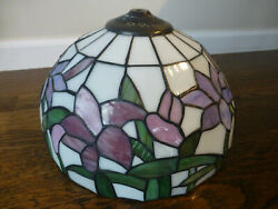 TIFFANY STYLE STAINED GLASS TABLE LAMP SHADE ONLY $134.85
