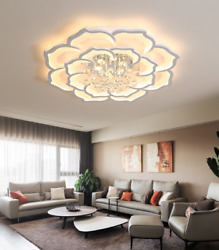 Dimmable Acrylic Modern Chandeliers Modern Flush Mounted Crystal Lighting Remote $413.10