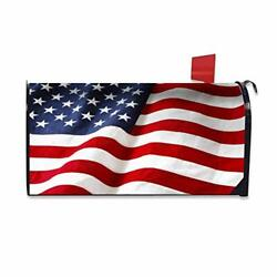 Mailbox Covers Flag USA Magnetic Mailbox Wraps Post Letter Box Cover Flag USA $24.29