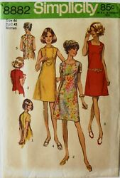 Simplicity 8882 Womens Plus Dresses Sewing Patterns Bust 48 FF $3.99