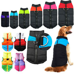 Winter Dog Pet Warm Puffer Jacket Padded Vest Coat Puppy Zip Clothes Small Large $9.87