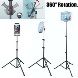 Foldable Height Adjustable Floor Tablet Tripod Stand Mount for iPad Mobile Phone $16.98
