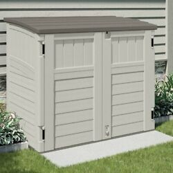 Suncast Horizontal 4 ft. 4 in. W x 2 ft. 8 in. D Storage Shed Stow Away Ivory $269.00