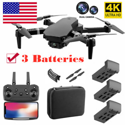 4K HD Dual Camera RC Drone Wi Fi FPV Selfie Drone Foldable Quadcopter Toy Gift $40.84