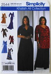 Simplicity 2544 Womens Plus Dresses 3 Lengths Sewing Pattern 20W 28W $3.99